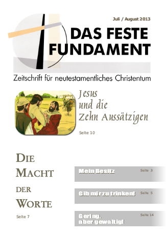 Das Feste Fundament 7+8/2013